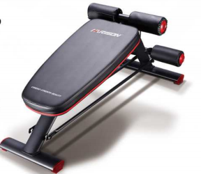 harisonfitness Compact Weight Bench with Dumbbel Rack